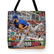 Jake Arrieta Chicago Cubs Pitcher Tote Bag