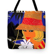 Jamaica, Woman With Orange Hat Tote Bag