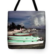 Jamaican Fishing Boats Tote Bag