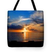 Jamaican Sunset Rays  By Steve Ellenburg Tote Bag