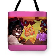 James Brown Tote Bag by Nelson Dedos Garcia