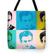 James Dean Pop Art Tote Bag