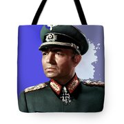 James Mason As Erwin Rommel Publicity Photo The Desert Fox 1951 Color Added 2016 Tote Bag