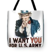 I Want You For U.s. Army Tote Bag