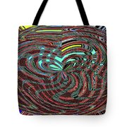 Janca Abstract Ovoid Panel 9646w9a Tote Bag