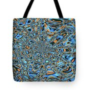Janca Abstract With Blue 9646w3 Tote Bag