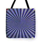 Janca Blue Oval Abstract 9646w11 Tote Bag