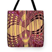 Janca Red And Yellow Abstract  Tote Bag