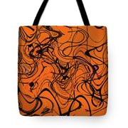 Janca Red Power Tower Abstract Tote Bag