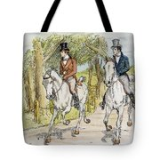 Jane Austen: Illustration Tote Bag