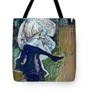 Jane Avril Dancing Circa 1892 Tote Bag