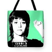 Jane Fonda Mug Shot - Mint Tote Bag