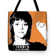 Jane Fonda Mug Shot - Orange Tote Bag