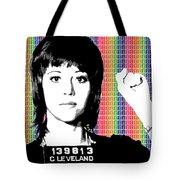 Jane Fonda Mug Shot - Rainbow Tote Bag