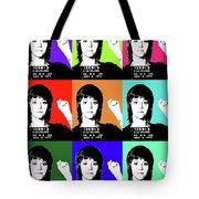 Jane Fonda Mug Shot X9 Tote Bag