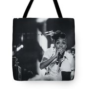 Janelle Monae Playing Live Tote Bag