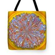 Janet -- Floral Disk Tote Bag
