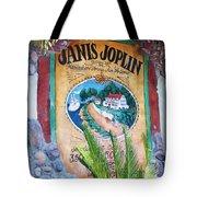 Janis Joplin In Concert Mural Tote Bag