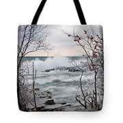 January Winds And Waves Tote Bag