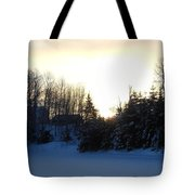 January Winter Morninng Tote Bag