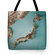 Japan 3d Render Topographic Map Neutral Border Tote Bag