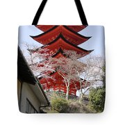 Japan Itsukushima Temple Tote Bag