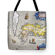 Japan: Map, 1606 Tote Bag