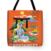 Japan Northwest Orient Airlines Tote Bag