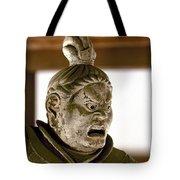 Japan: Warrior Statue Tote Bag