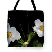 Japanese Anemone Flower Tote Bag