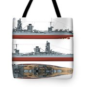 Japanese Battleship Ise Tote Bag