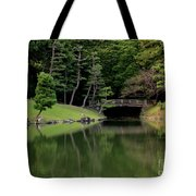 Japanese Garden Bridge Reflection Tote Bag