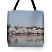 Japanese Cherry Blossom Trees Tote Bag