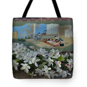 Japanese Cherry Blossoms Branch  Tote Bag