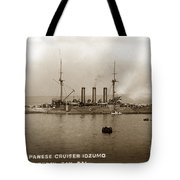 Japanese Cruiser Izumo In Monterey Bay December 1913 Tote Bag