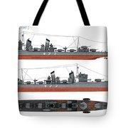 Japanese Destroyer Fubuki Tote Bag