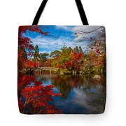 Japanese Foliage Tote Bag