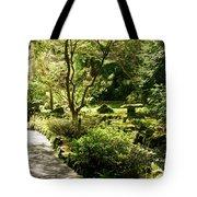 Japanese Garden At Butchart Gardens In Spring Tote Bag