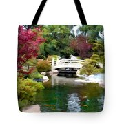 Japanese Garden Bridge And Koi Pond Tote Bag