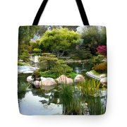 Japanese Garden Panorama 2 Tote Bag