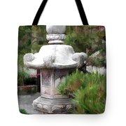 Japanese Garden Stone Lantern Statue Tote Bag