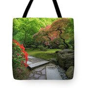 Japanese Garden Strolling Stone Path Tote Bag