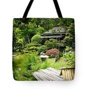 Japanese Garden Teahouse Tote Bag
