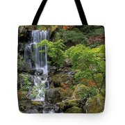 Japanese Garden Waterfall Tote Bag by Sandra Bronstein