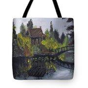 Japanese Garden With Bridge Tote Bag