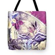 Japanese Iris - Kimono Series Tote Bag