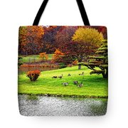 Japanese Island Fall Colors Tote Bag