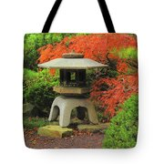 Japanese Maple And Lantern 1 Tote Bag