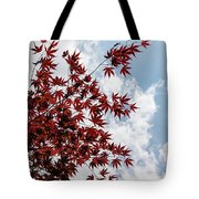 Japanese Maple Red Lace - Vertical Up Right Tote Bag