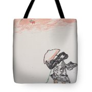 Japanese Shrine And Isolated Monk Tote Bag